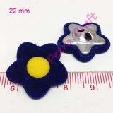 flower-yellow in blue-button-petracraft