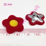 flower-yellow in red-button-petracraft